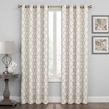 Living Room Curtains Kohls by Court Embroidered Lattice Window Curtain