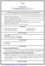 Inspirational Resume Format For Freshers Mechanical Engineers Pdf Free Download