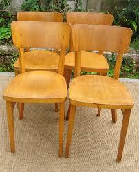 chaises thonet 4 chaises de bistrot thonet anciennes fabriquées en tchécoslovaquie