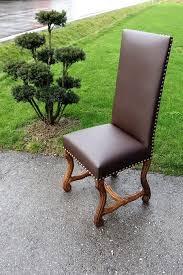 ein stuhl neu polstern bei uns in kunstleder leder oder