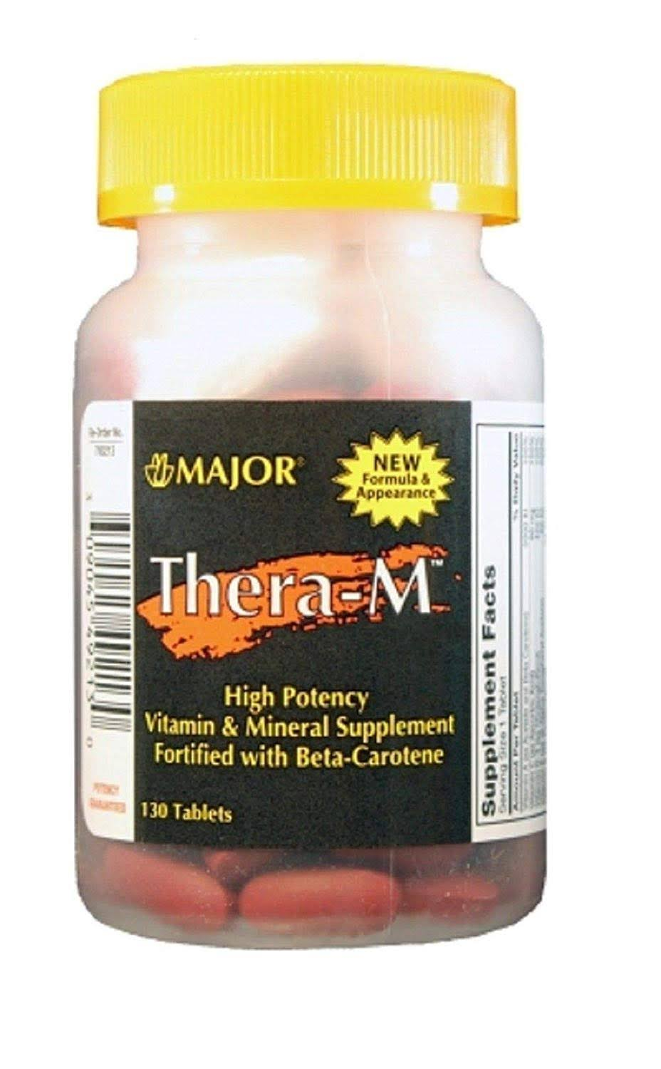 Major Thera M Tablets High Potency Dietary Supplement - 130ct