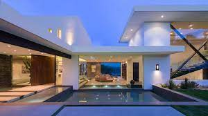 104 Beverly Hills Modern Homes Whipple Russell Creates White Mansion Overlooking