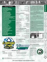 2011 emu women s soccer media guide by eastern michigan university