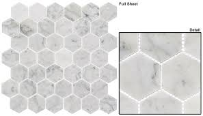 colonial clnl 275 captains manor 2 hexagon marble mosaic
