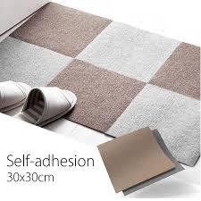 square self adhesive carpet tiles anti slip floor mat rug home
