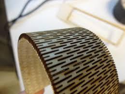 Laser Cut Lamp Plans by Laser Cut Bendable Wood Youtube