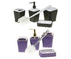 rattan elegance badezimmer badgarnitur badorganisator set