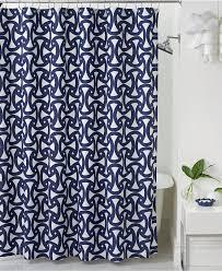 Macys Double Curtain Rods by Geometric Print Shower Curtains Geometric Shower Curtain Design