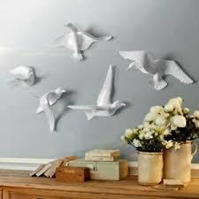 details zu 5x 3d fliegende möwe vogel figur skulptur wanddeko für wohnzimmer schlafzimmer