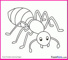Toonpeps Printable Ant Coloring Pages For Kids Home Hill Page Large Size