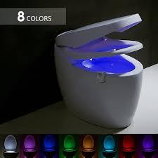 8 farben led nachtlicht bewegungssensor toilettenlicht mensch k rper induktionsle badezimmer nachtlicht