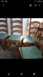 set 4 esszimmer stühle landhausstil holzst gepolstert d