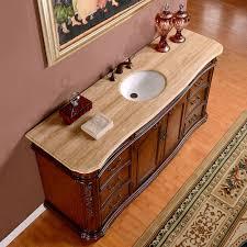 Ebay Bathroom Vanity With Sink by Silkroad 72 Inch Antique Single Sink Bathroom Vanity Cream Marfil