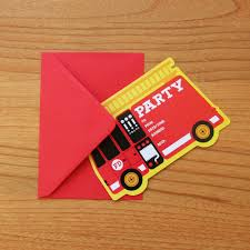Fire Engine/Truck Kids Birthday Party Invitations. $14.95, Via Etsy ... Fire Truck Firefighter Birthday Party Invitation Amaze Your Guests Gilm Press Firetruck Themed With Free Printables How To Nest Invite Hawaiian Invitations In A Box Buy Captain Jacks Brigade Ideas Bagvania Invitation Card Stock Fireman Printable Leo Loves Nsalvajecom Awesome Motif Card Lovely 24 Best 1st