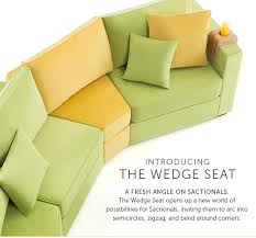 Introducing The Wedge Seat A Fresh Angle On Sactionals Opens Up