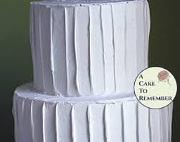 Two Tiered Fake Cake With Rustic Icing 5 And 7 Tiers Faux