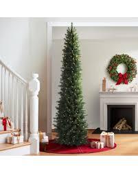 Slim Pre Lit Christmas Trees 7ft by Amazing Deal On 7 U0027 Revelstoke Fir Slim Prelit Artificial Christmas