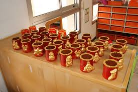 que faire avec des pots de yaourt en verre avec les pots de yaourt en terre verre en stock à l école noël