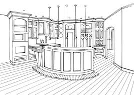 Click To See Printable Version Of Kitchen With Bar Counter Coloring Page