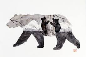 MAMA BEAR CUBS Limited Edition Giclee Print From An Original Painting By