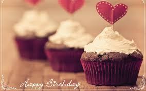 birthday chocolate cupcake heart image