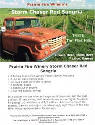 Storm Chaser Red Sangria Recipe - Prairie Fire Winery Christmas Tree Truck Vintage Red Camper Applejack Wines Blend 750 Ml 5th Annual Hill Country Food Festival In Fredericksburg At A New Twistoff On Wine Shop Winery Winecom Bordeleau Celebrating Winerys 10th Birthday Illanta Canvas Paint Party And More Update Swall Meadows Beer Fest Sold Out Sierra Cocktail Distilled Beverage Glass Riunite Lambrusco Banfi