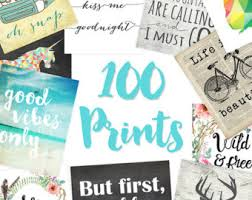 Dorm Decor Set Of 100 8x10s