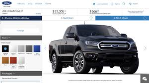 100 Ranger Truck 2019 Ford US Configurator Reveals 24300 Starting Price