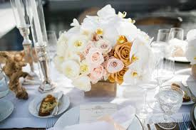 White Flowers In Wood Box Rustic Wedding Centerpieces And Driftwood