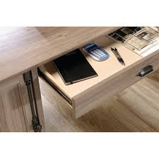 Sauder Harbor View Computer Desk Salt Oak by L Shaped Desk In Salt Oak 418270