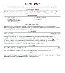Sales Associate Resume Example