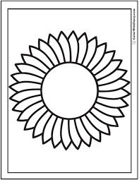 Preschool Sunflower Coloring Sheet