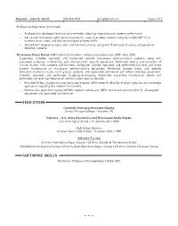 Resume Format For Lecturer In Computer Science Sample Engineer Mechanical Field