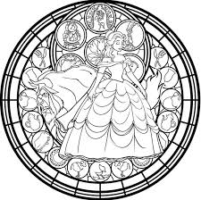 Stained Glass Art Coloring Pages