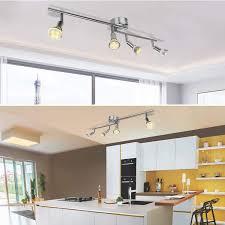 küchen led strahler deckenle spots metall matt nickel