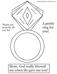 Happy Mothers Day Ring For Mom Coloring Page