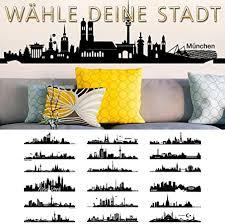 wandtattoo skyline berlin mit bunter stadt wandsticker deko