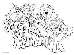 My Little Pony Coloring Pages Rainbow Dash Sheets