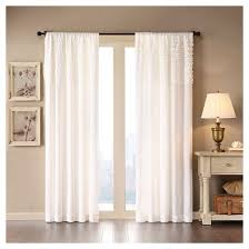 Purple Ruffle Curtain Panel by Pink Ruffle Curtains Target