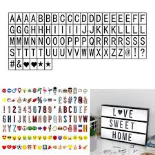 A4 Cinematic Light Up Sign Box Cinema LED Letter Lamp Home Party