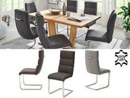 details zu schwingstuhl küchenstuhl esszimmerstuhl stuhl echtleder giulia vi 2 er set