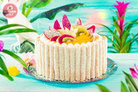 tutti frutti mit tutti frutti kuchen tropical cake