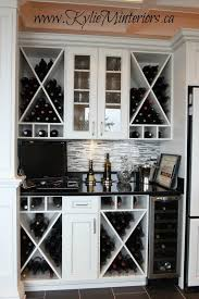 Beautiful Wine Storage And Prep Bar Area In Kitchen White Cabinets Mosaic Tile Backsplash