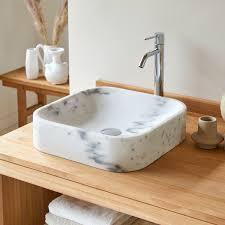 waschbecken aus marmor perseus white