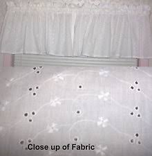White Eyelet Kitchen Curtains by Nursery Curtains Ebay