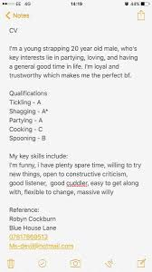 This Guy Is So Extra He Legitimately Made A CV For Dating