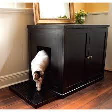 modern cat boomer george mid century modern cat litter box hayneedle