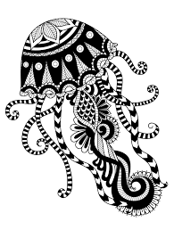 Jellyfish Coloring Pages For Adults Pic