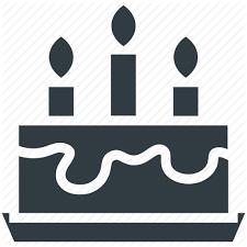 birthday cake cake cake with candles celebration christmas cake icon
