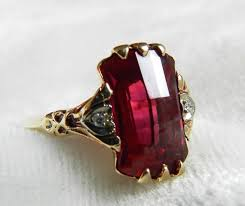 deco ruby and ring deco ring ruby ring 1920s lab grown ruby antique ruby fancy
